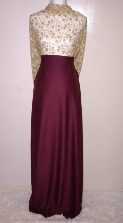 Gold and maroon Maxi dress set