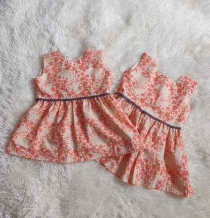 Coral pink twin dress