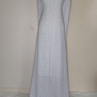 white polka maxi dress