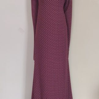 burgandy polka maxi dress