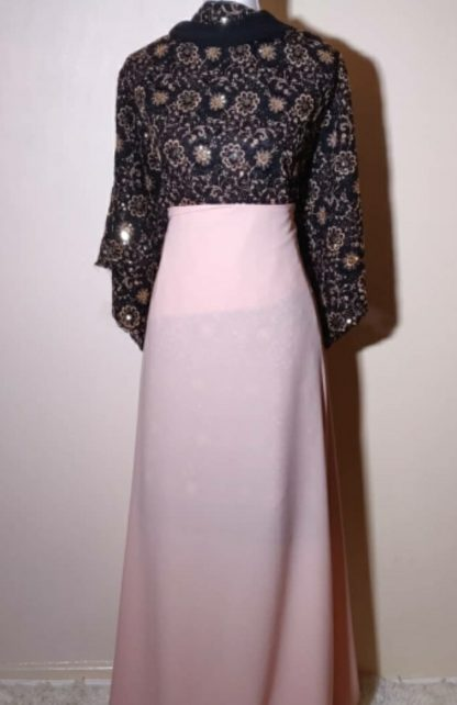 Black and gold with pink skirt