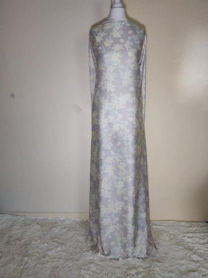 light grey floral maxi dress