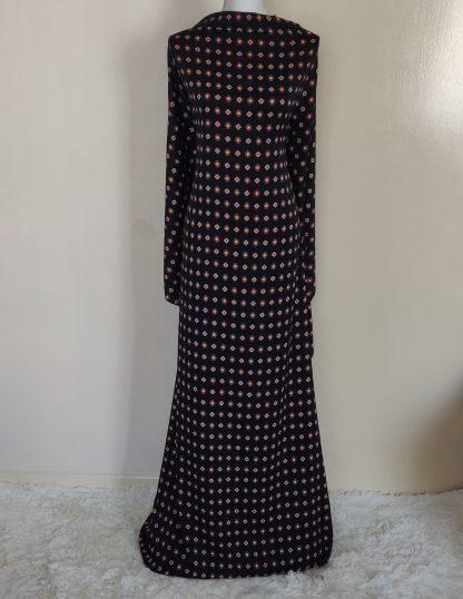 Black and gold print maxi dress
