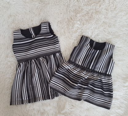 Striped girls twin dress