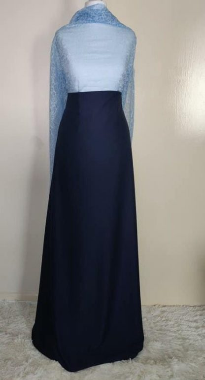 Blue lace maxi dress