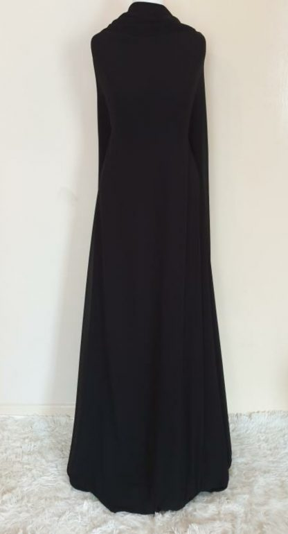 black Georgette maxi dress