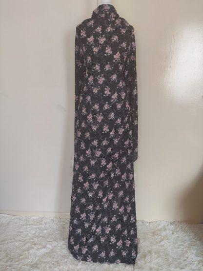 flowery black combo maxi dress