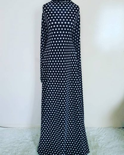 polka ridged maxi dress