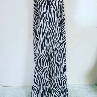 Zebra ridged maxi dress