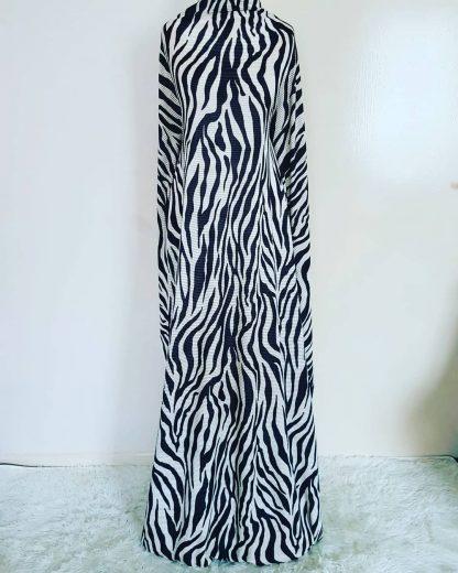 Zebra ridged maxi dress