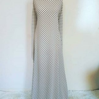 Cream polka maxi dress