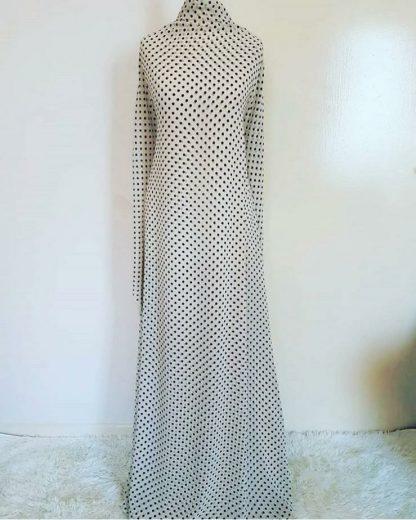 Cream polka maxi dress