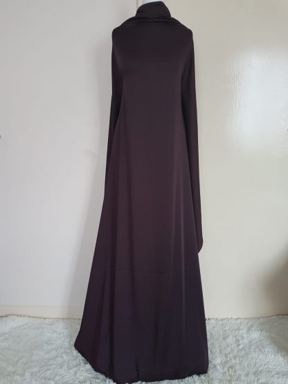 Dark maroon maxi dress