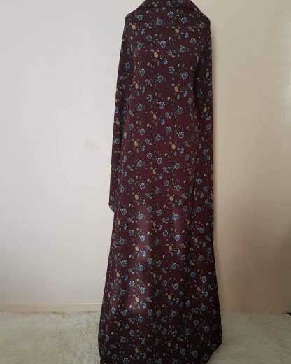 Burgundy printed peplum dress