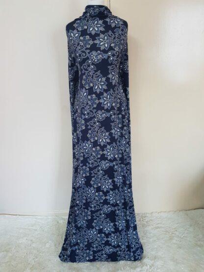 Navy floral spread maxi dress