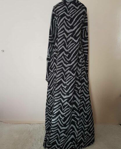 Zebra print A line maxi dress