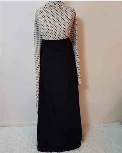 White polka maxi dress