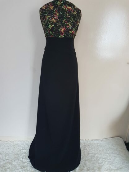 Multi coloured navy maxi dress