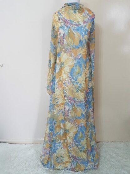 Pastel yellow maxi dress