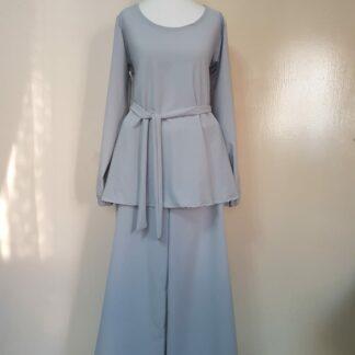 White grey maxi dress