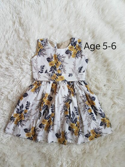 Yellow floral girl's dress