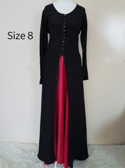 Black jacket and polka skirt