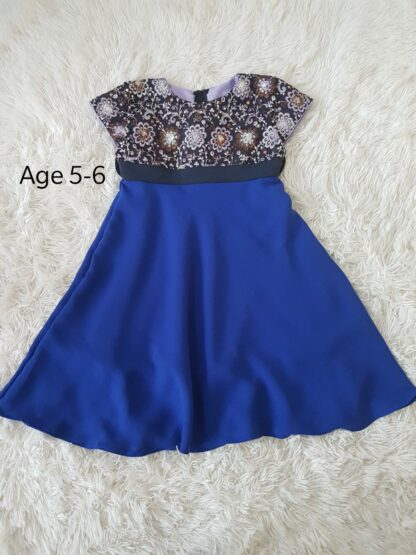 Blue sequins girls dress