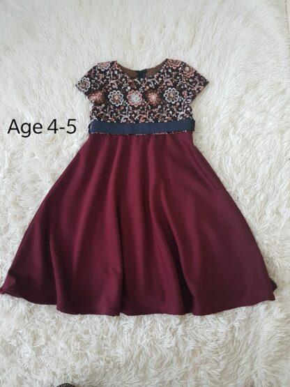 Sequins maroon girls dress