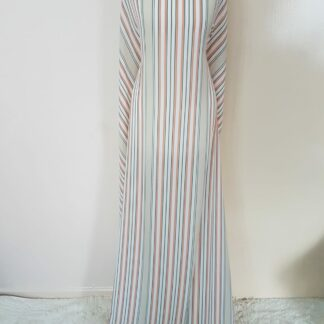 Stripe maxi dress straight cut