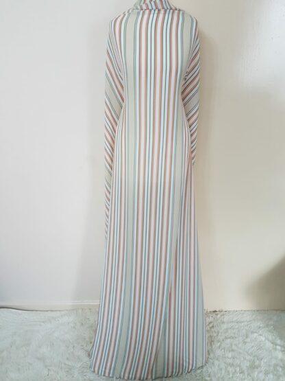 Stripe maxi dress straight cut
