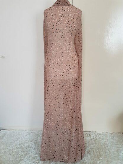 Tan spot maxi dress