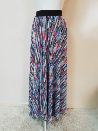 Shattered blue skirt
