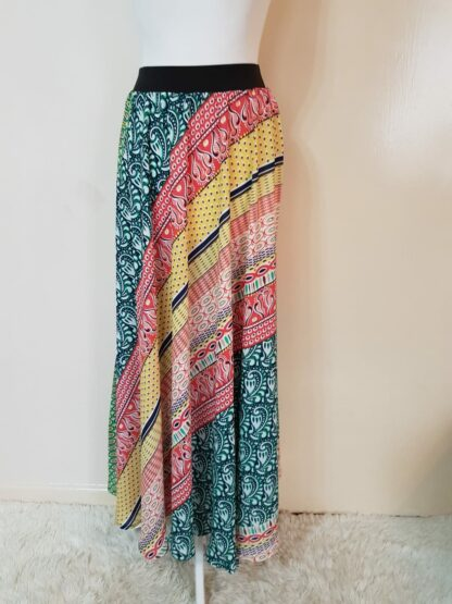 Multicoloured paisley skirt