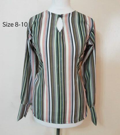 Stripey top with peephole front