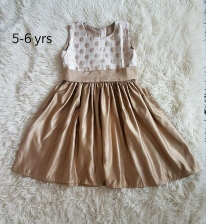 Gold polka dress