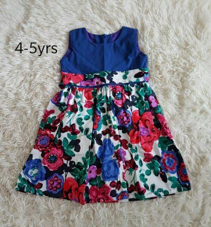 Royal blue floral dress