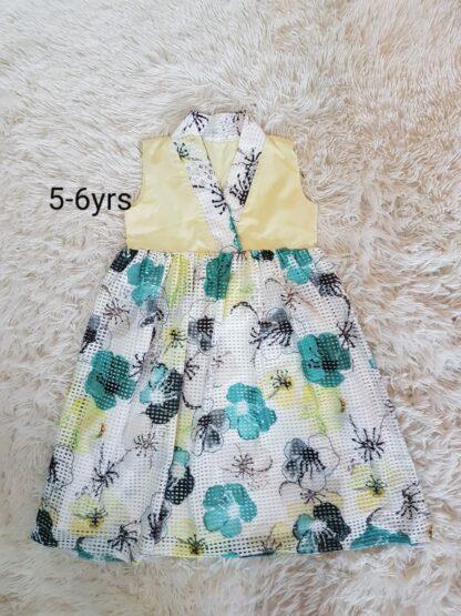 Lemon grid dress