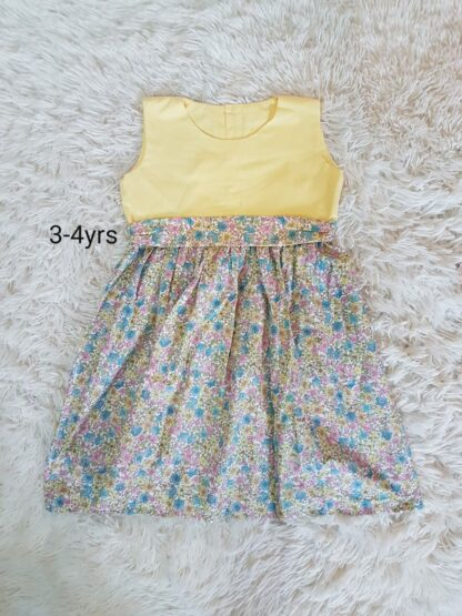 Lemon ditsy floral dress