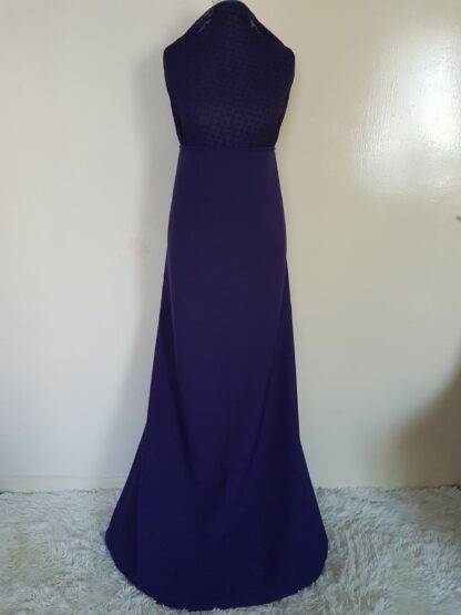 Purple matching maxi dress