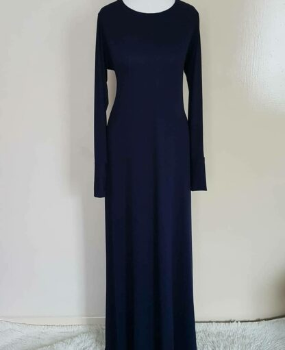 Navy A Line maxi dress
