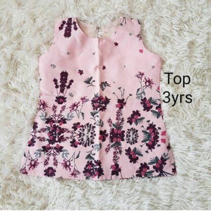 Pink floral summer top