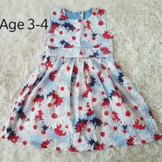 Pale blue daisy dress
