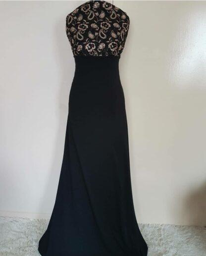 Black sequins maxi dress