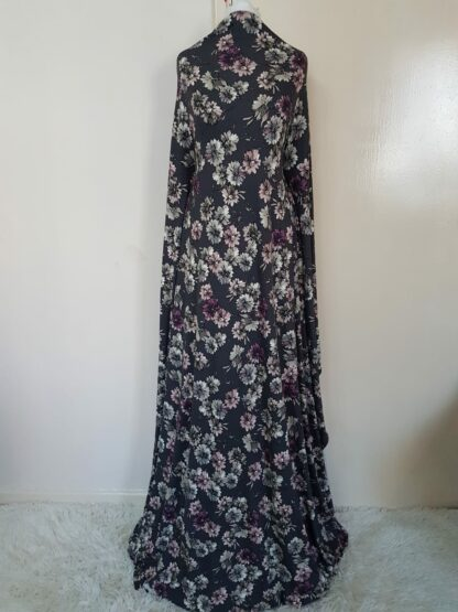 Grey floral printed maxi dress
