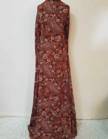 Brown paisley maxi dress
