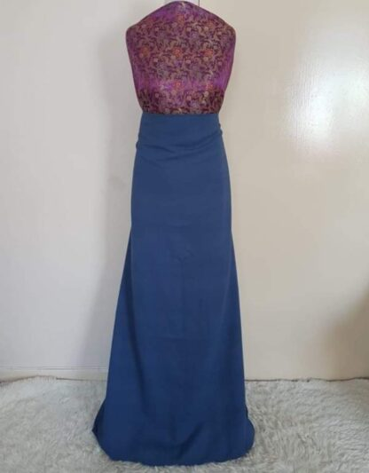 Magenta top and blue matching dresses