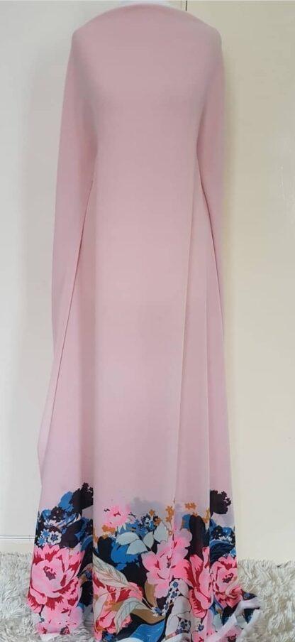 Pink floral pointed hem dress