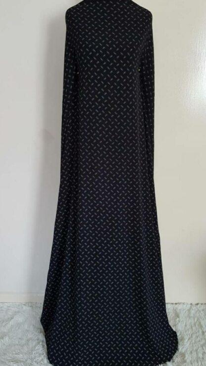 Small print black maxi dress