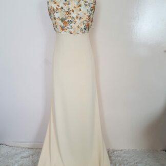 Blue floral hem dress