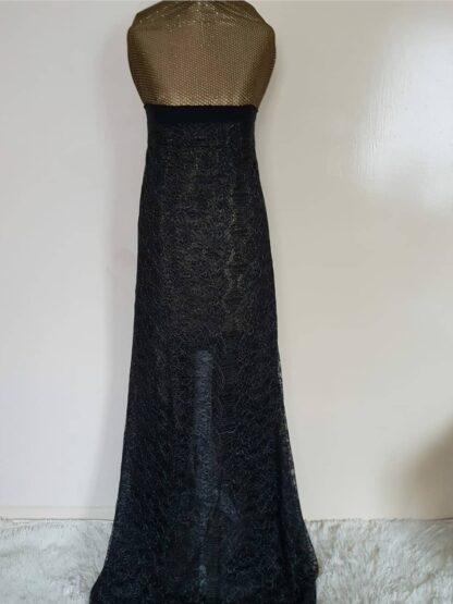 Gold and black maxi dress